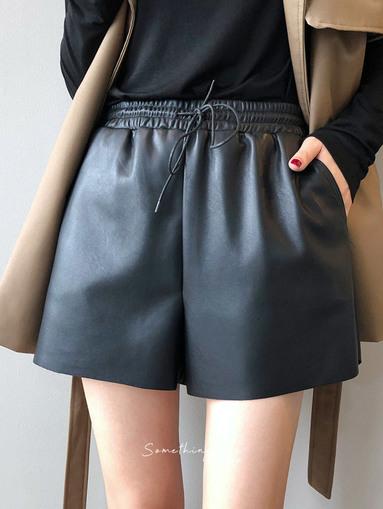 BE200904 A字抽繩小短褲 3色