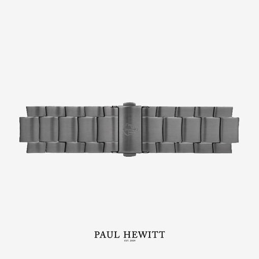 PH-M1-GM-4M Paul Hewitt 原廠錶帶 - 20mm不鏽鋼金屬錶帶 (槍灰色)