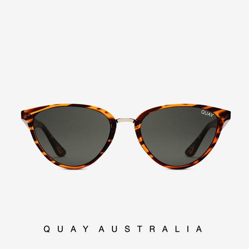 QW-000222-TORT-GRN Quay 太陽眼鏡 - RUMOURS 貓眼系列 (琥珀/深褐色)【森森款】