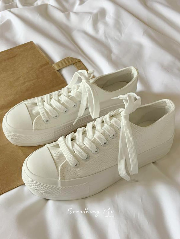 SF201001 厚底帆布小白鞋