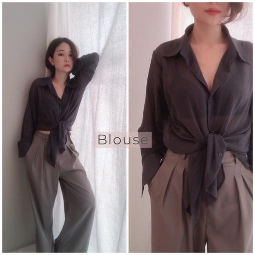 T01907016 韓國 - 透膚雪紡紗襯衫(賣破百件 版型超顯瘦!)